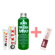 Набір Анестезія TKTX 35% + Зелене мило Dr.Gritz 100 мл + Вітамінізований крем Fougera у подарунок