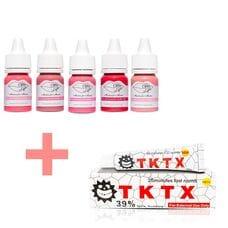 Набір пігментів для татуажу Sweet Lips 5 шт + Анестезія TKTX White 39% в подарунок