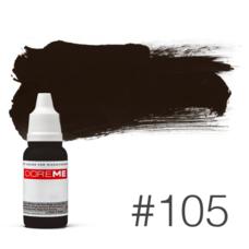 Пигмент для татуажа Doreme  LIQUID 105 Pure Black 15 мл