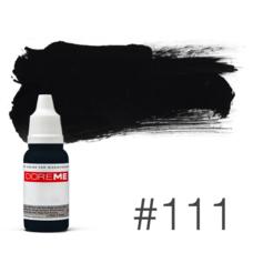 Пигмент для татуажа Doreme  LIQUID 111 Deep Black 15 мл
