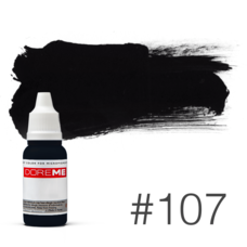 Пигмент для татуажа Doreme  LIQUID 107 Total Darkness 15 мл